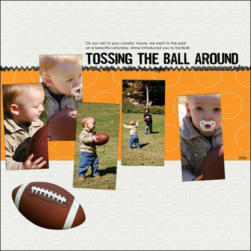 tossing the ball around